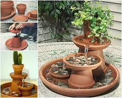 Small Picture Creative Ideas DIY Terracotta Pot Fountain Favorite things