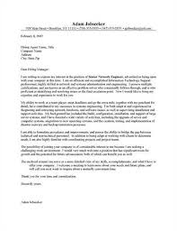 Senior Network Engineer Cover Letter Sample Resume Samples