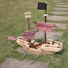 large wooden pirate ship toy for kids multicolor