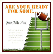Super Bowl Party Invitations With Free Printable Football