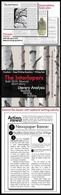 best ideas about classic short stories short interlopers saki short story 45 min lesson lit analysis writing task