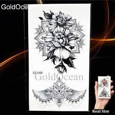 3d эскиз временные женщины татуировки наклейки девушки рука геометрический