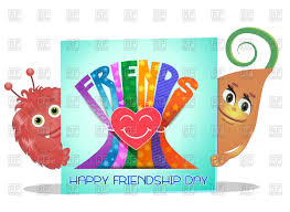 greeting card happy friendship day vector image vector ilration of backgrounds textures to zoom