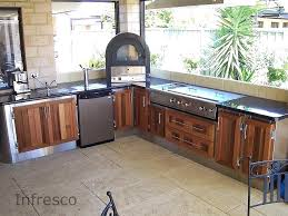 best outdoor kitchen cabinets for cedar doors and alfresco kitchens melbourne fl