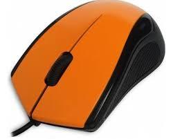 <b>Мышь CBR CM</b>-100 Orange, оптика, 1200dpi, офисн., провод 1.3 ...