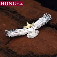 2017 eagle pendant 100 real 925 sterling silver necklace pendant men jewelry gift fine indian