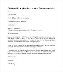 Letter Of Recommendation For Scholarship – Citybirds.club