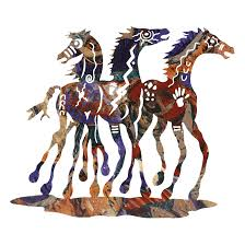on southwestern metal wall art with whimsical southwest metal wall art