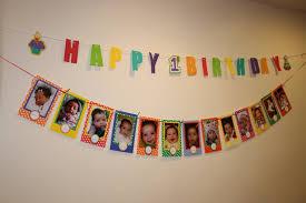 1st birthday banner first birthday photo banner happy birthday wishes banner for 1st