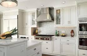 Backsplash For White Kitchen Cabinets For White Cabinets Comfortable