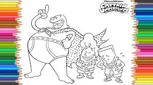 Colours For Children Captain Underpants Coloring Pages L How To