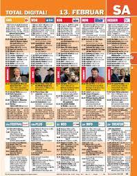tv listings. sample page tv listings