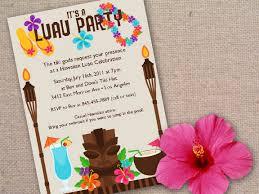 Invitation Ideas Hawaiian Theme Party Invitations Birthday
