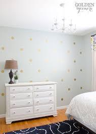 diy gold polka dot wall the golden