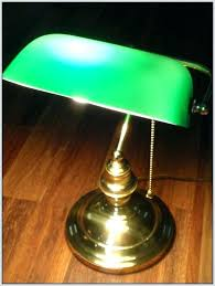 vintage green desk lamp replacement glass bankers shade