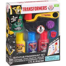 transformers bathtub fingerpaint gift set 8 pc com