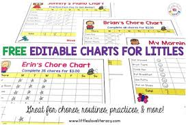 Editable Bedtime Routine Chart List Of Editables Chore Chart For Kids Morning Routines