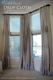 Drop Cloth Curtains Tutorial Ruffled Drop Cloth Curtains A Small Snippet