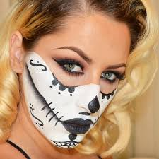 look sugar skull makeup tutorial