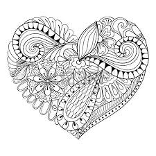 Small Picture Adults Valentine S Day Hearts Coloring Pages Stock Photos