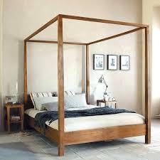 canopy bed frame en s iron king twin metal diy