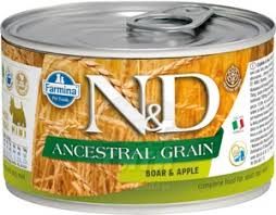 <b>Фармина N&D</b> Dog Ancestral Grain Boar & Apple Mini <b>консервы</b> ...