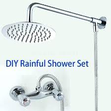 rain shower head with arm rain shower head arm bathroom rainfall shower mixer set complete including rain shower head with arm