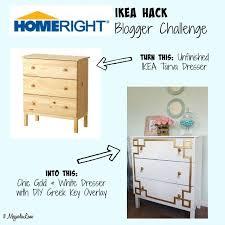 ikea furniture diy.  Diy DIY Greek Key Overlay On IKEA Dresser  11 Magnolia Lane With Ikea Furniture Diy E
