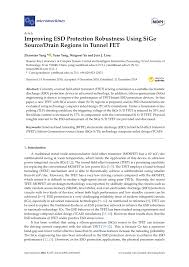 pdf improving esd protection robustness using sige source drain pdf improving esd protection robustness using sige source drain regions in tunnel fet