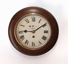 small fusee railway clock with 8 inch dial antique station wall