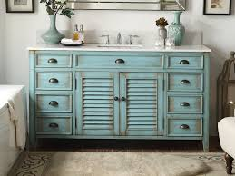 60 distressed blue single sink abbeville bathroom sink vanity cf