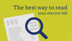 read your electric bill