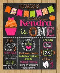 first birthday chalkboard diy 5