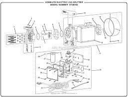 homelite electric log splitter ut49102 parts diagrams