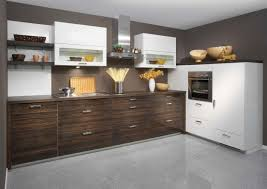 G Shaped Kitchen Layout Brown Island Cabinet In Wax Finished G Shaped Kitchen Designs