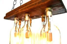 wine bottle light fixture amazing chandelier for genius recycled fixtures