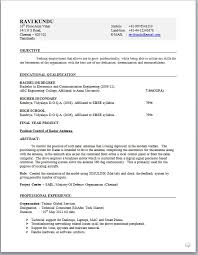 Gallery Of Electronic Engineer Resume Format Resume Formats For