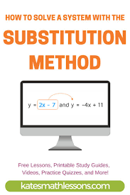 how do you find a solution to a system of equations with the substitution method
