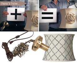 a shade swag adapter and a lamp shade follow simple steps to create your own chandelier