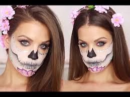 is ing so i thought i ll show you how to achieve this colorful pink sugar skull dia de los muertos makeup tutorial