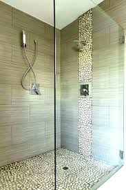 pebble stone shower floor black river cleaning rock best ideas on problems riv installation