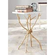 gold end table. Internet #206718809. Safavieh Alexa White And Gold End Table O