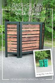 trash can holder outdoor outside garbage storage solutions plans tras