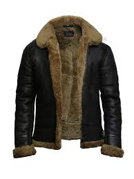 men s aviator b3 world war2 real shearling sheepskin flying jacket austin