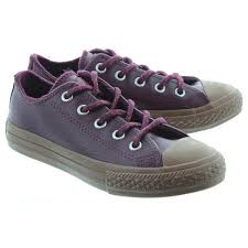 affordable converse leather ox lace burdy sneakers for children