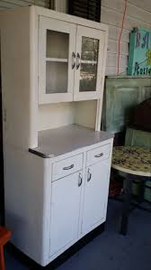 Vintage Metal Kitchen Cabinet With Glass Doors Contact For