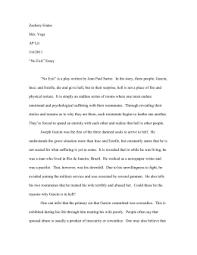 jean paul sartre`s no exit no exit essay doc