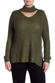 Nordstrom Rack Plus Size Coats PLANET GOLD Choker Neck Knit Sweater Plus Size Nordstrom Rack 81