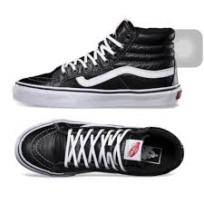 vans high tops black. vans shoes - high top leather 😍 tops black
