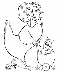 Small Picture Easter Chicks Coloring page Baby Stroller Chick